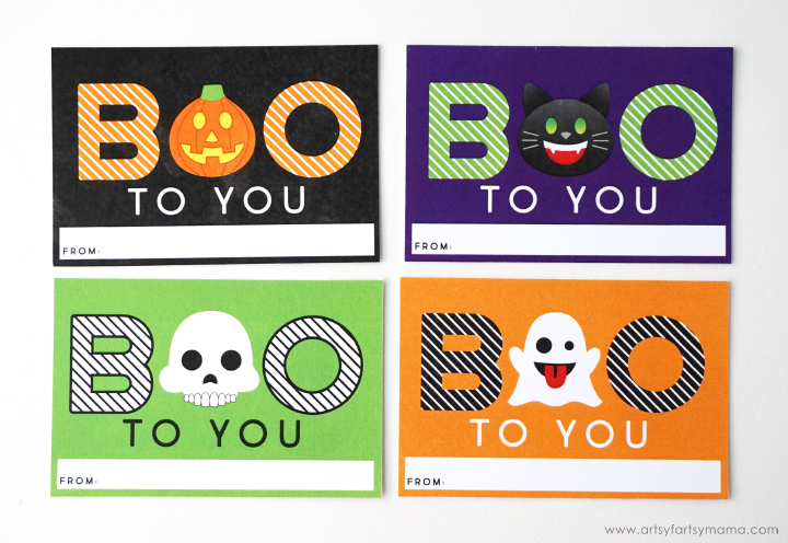 Halloween emoji gift bags with free printable tags artsy fartsy mama perfect for party favors and trick or treaters these halloween emoji gift bags negle Image collections