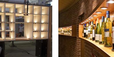éclairage led  restaurant étagère