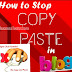 How to Disable Copy, Paste and Right Click On Blogger
