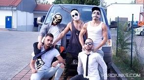 The Purge – A Gay Porn Parody (Chapter 1) – Abraham Montenegro, Angel Cruz, Josh Milk, Rafa Marco & Valentino Ribas