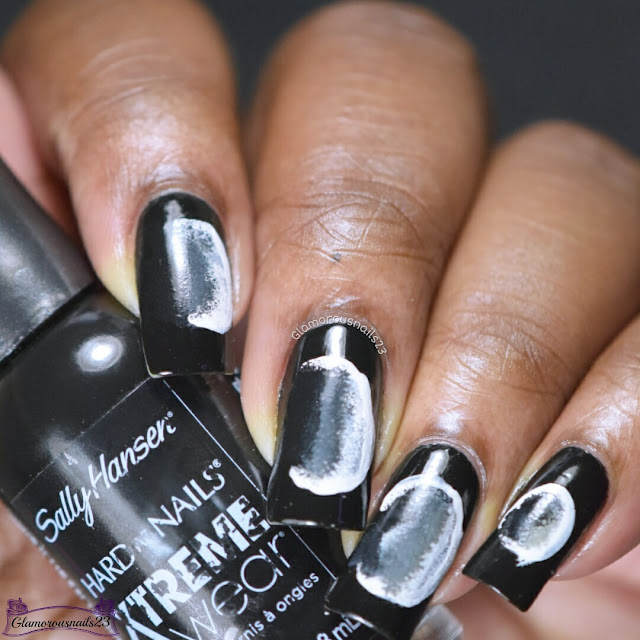 Challenge Your Nail Art Day 9 - Moon