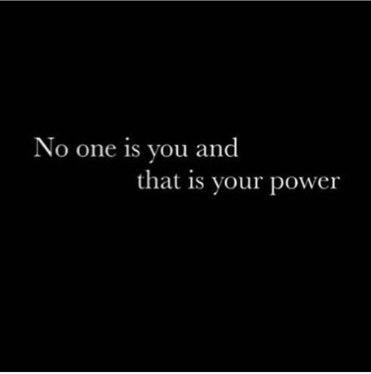 twenty six letters no one is you and that is your power