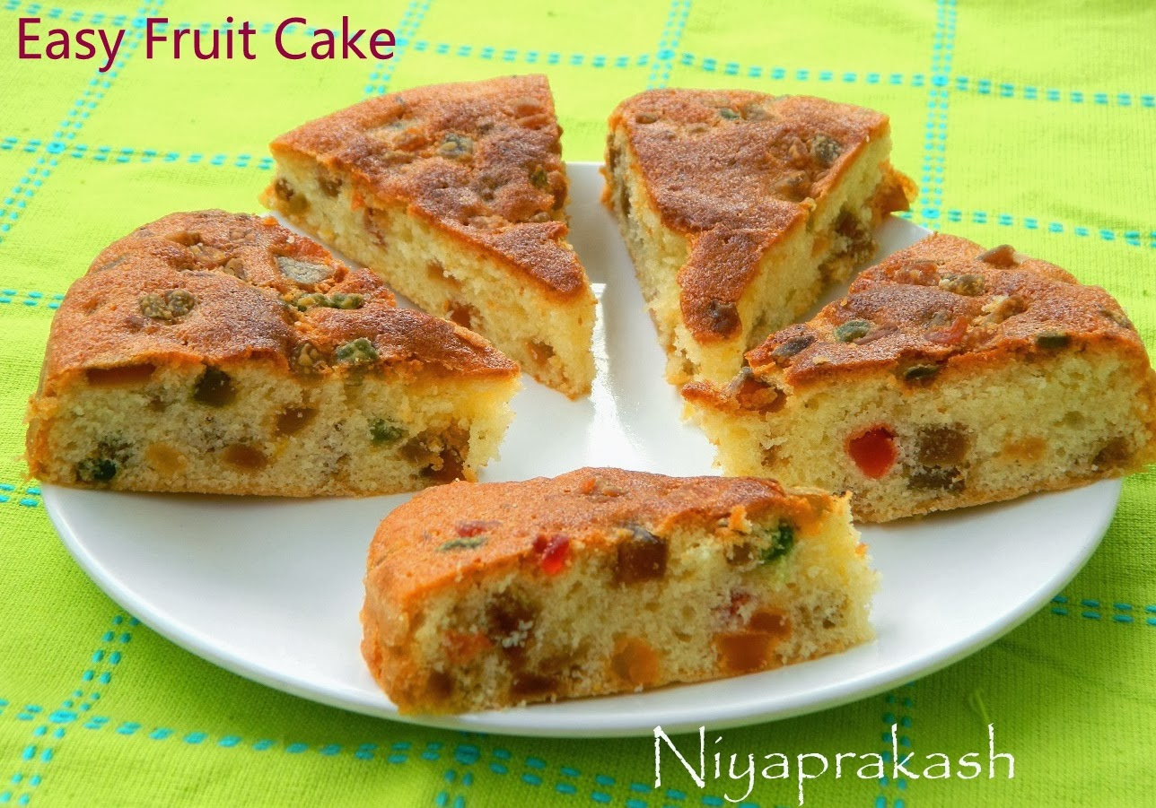 Golden Light Fruit Cake Recipe