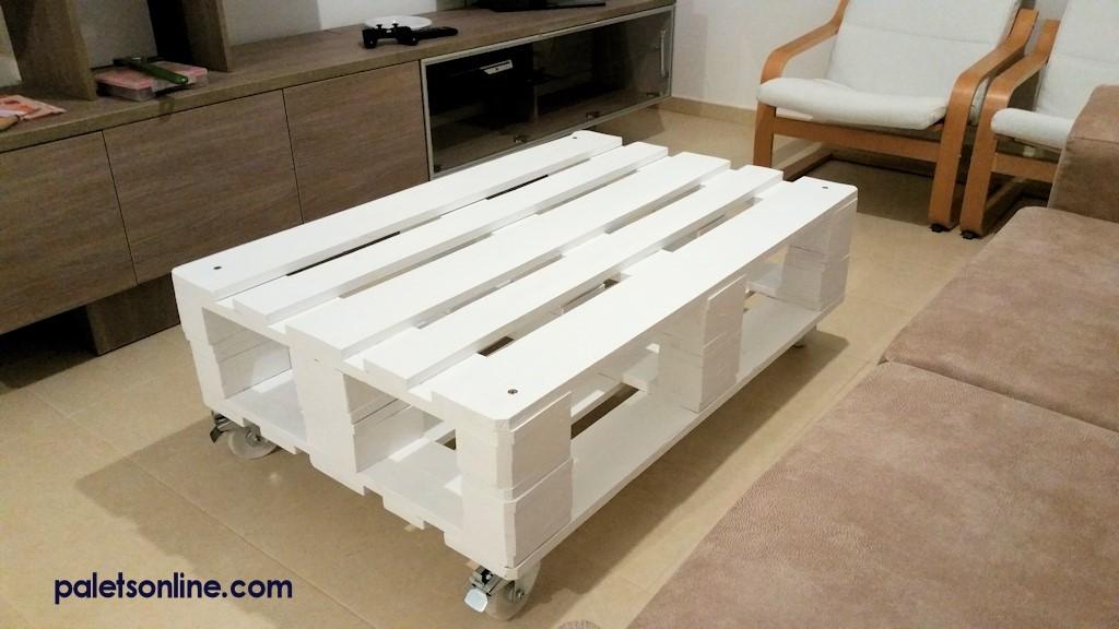 Muebles con palets - Mesa centro palet ...