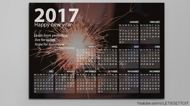 How to Make a Professional Calendar in Photoshop_Preview 2