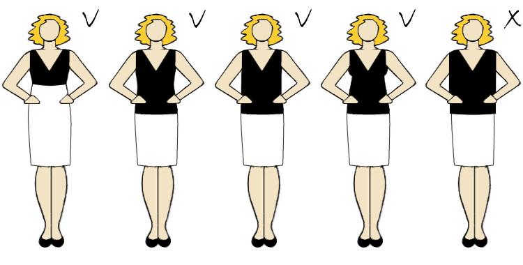 bluzka ciążowa która ładnie podkreśli brzuszek fason długość dekolt