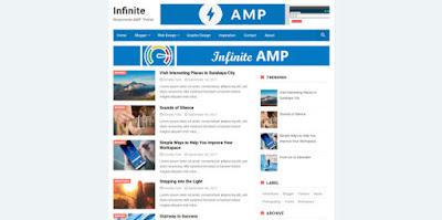 infinite amp шаблон для blogger 2018