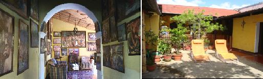 Courtyard and inside courtyard.