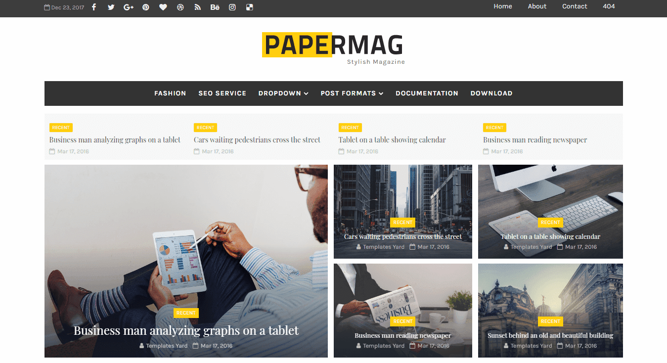 PaperMag Blogger Template