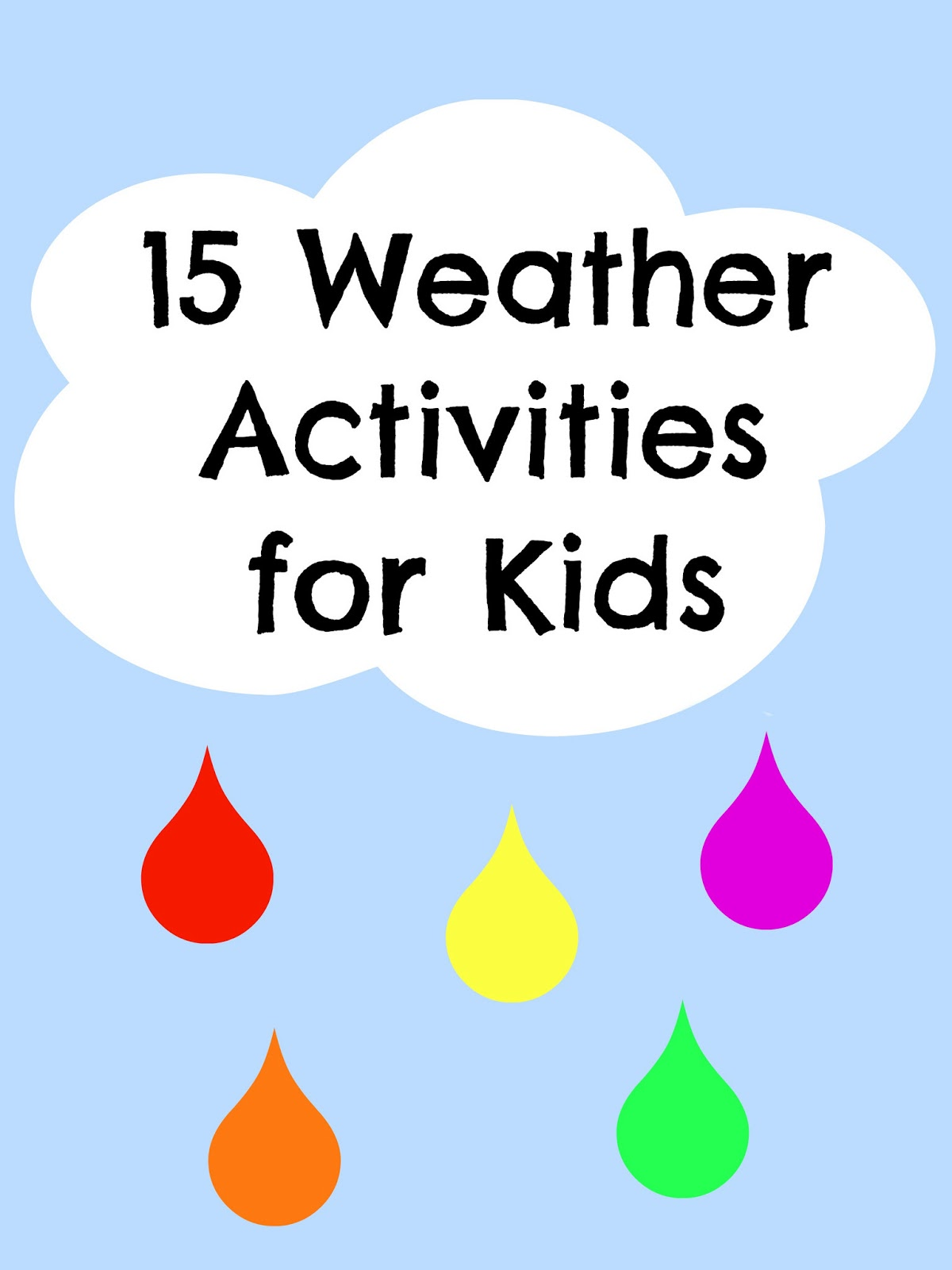 15 Spring Weather Activities Kid S Co Op Reading Confetti
