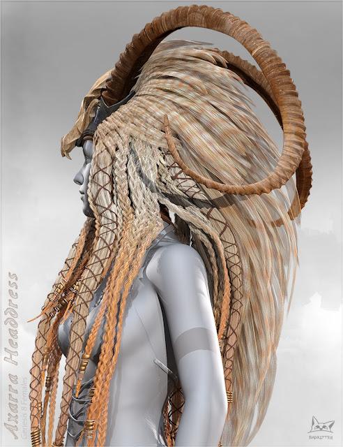 Axarra Headdress for Genesis 8 Female