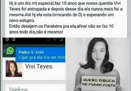 Não tenho Facebook, mas agora de manhã, pelo Twitter, recebi mensagens  tratando de um caso horrível. Reproduzo o post que Viviane deixou na sua  página no FB ... effa800d42