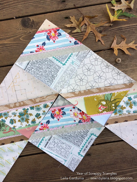 "Free 6"" foundation paper pieced, half square triangle (HST), quilt block patterns perfect for using up leftover fabric and scraps"