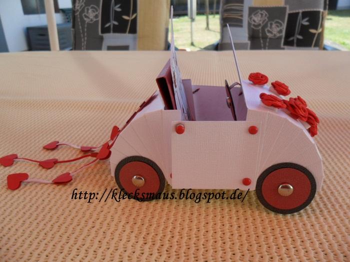 Klecksmaus Kreativ Hochzeitsauto
