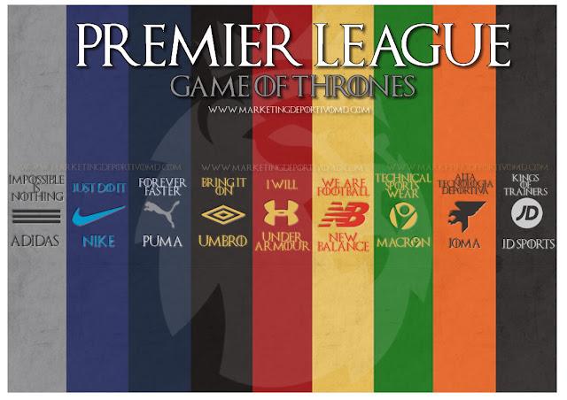 Juego de Tronos: 9 marcas lucharán por el Trono de Hierro de la Premier League