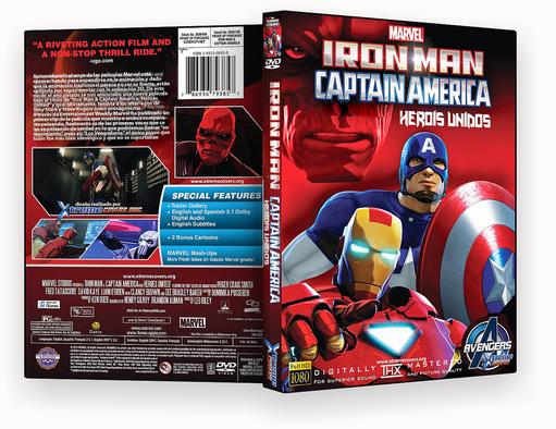 Homem de Ferro e Capitão America 2018 – ISO – CAPA DVD