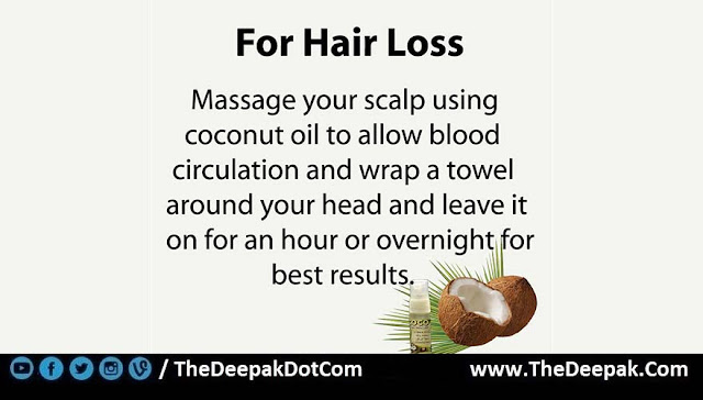3 COCONUT OIL used for Hair Loss