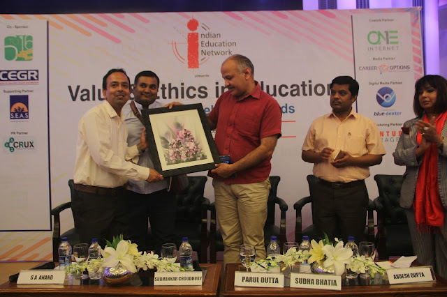 DCM Manish Sisodia Adressed the Session on Value and Ethics in Education organised by Indian Education Network