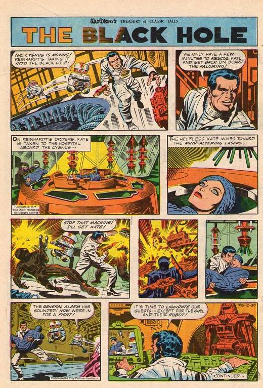 space1970: THE BLACK HOLE (1979) by Jack Kirby