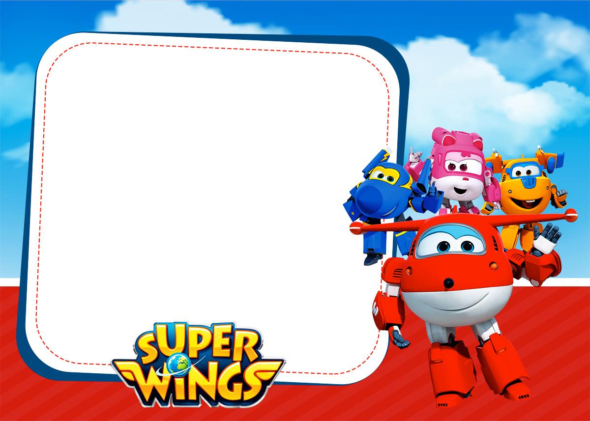 Super Wings Tarjetas O Invitaciones Para Imprimir Gratis
