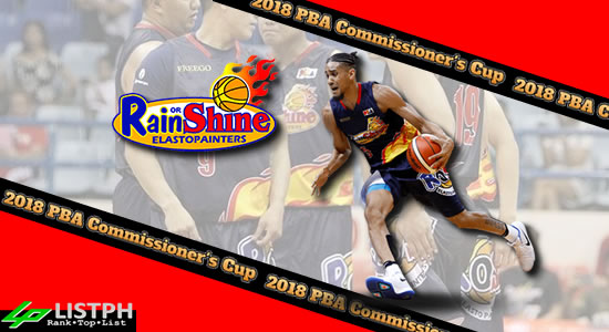 List of Rain or Shine Elasto Painters Roster 2018 PBA Commissioner's Cup