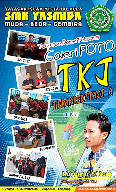 Design Banner Stiker Jurusan TKJ SMK Yasmida
