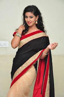 Pavani in a lovely Velvet Saree Spicy Stills