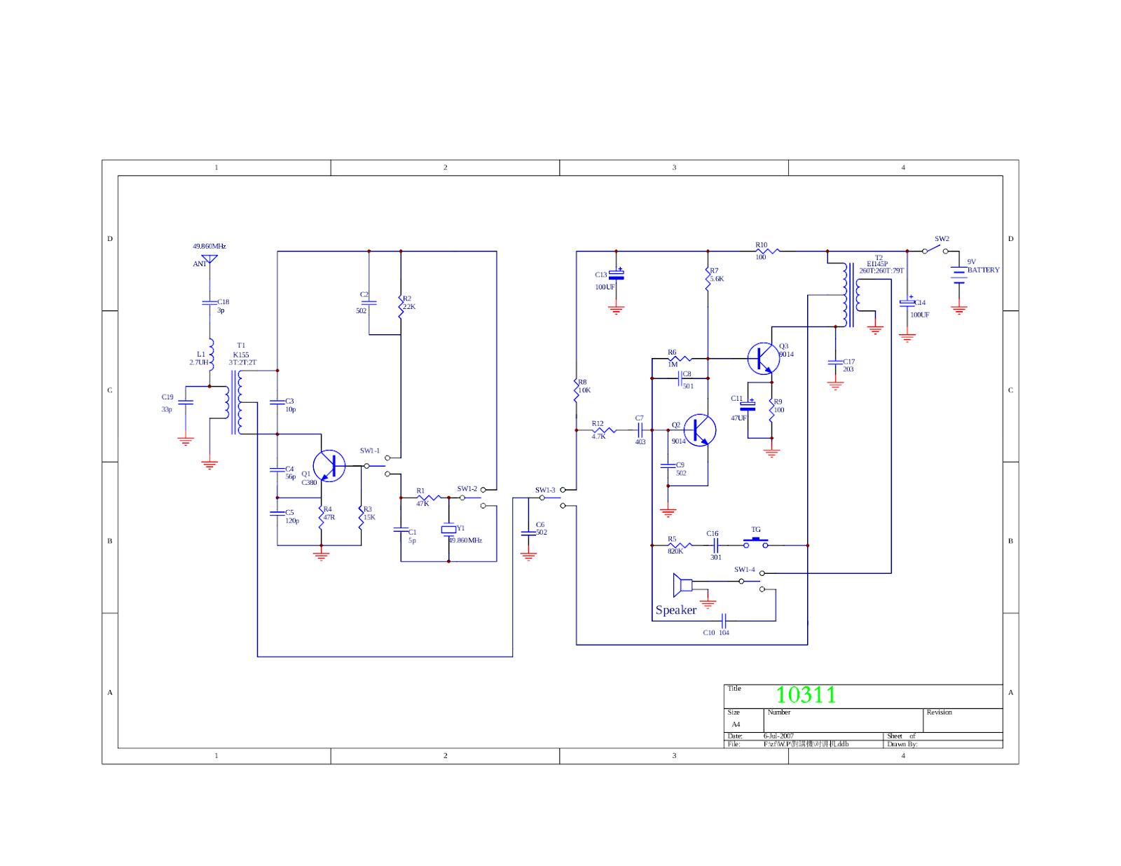 Circuit Diagram To Make A Walkie Talkie Free Download Wiring Diagram ...