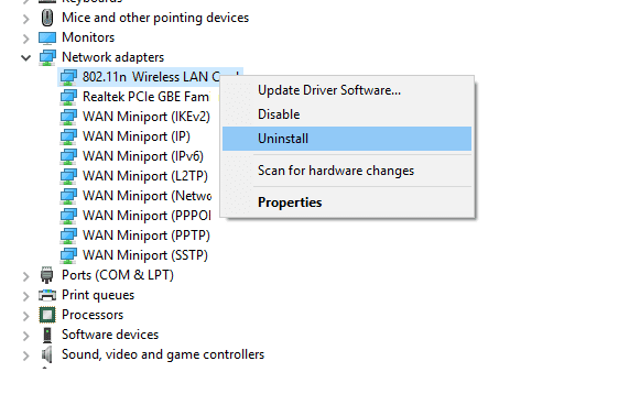 Hapus Driver Device Manager