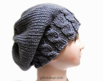 Knitting pattern Hat Slouchy  for women