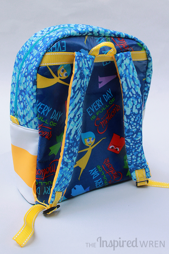 "Contoured, Foam-Padded Straps | Canvas & Laminated Cotton ""Inside Out"" Backpack 