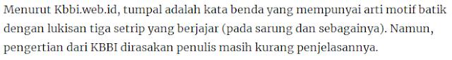 Makna Filosofi Motif Tumpal Batik Pesisiran