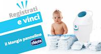 Logo Vinci gratis 10 Mangia pannolini Chicco