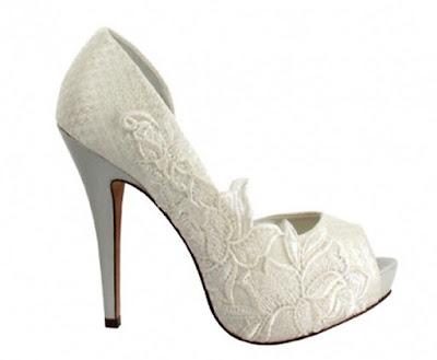 chaussure a talon argenté pour mariage