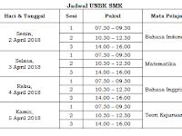 Jadwal UNBK 2018 SMP, SMA dan SMK