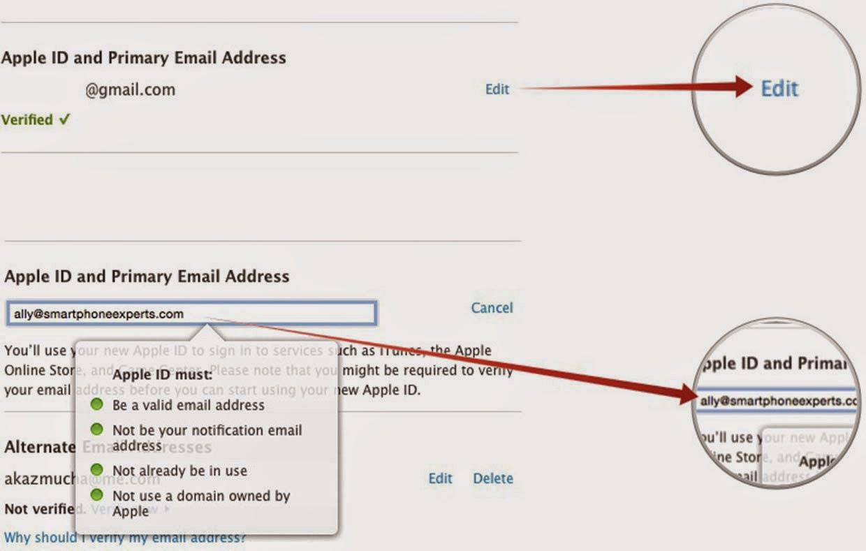 Cara Merubah Alamat Email Apple ID - ID-Penulis Blogger