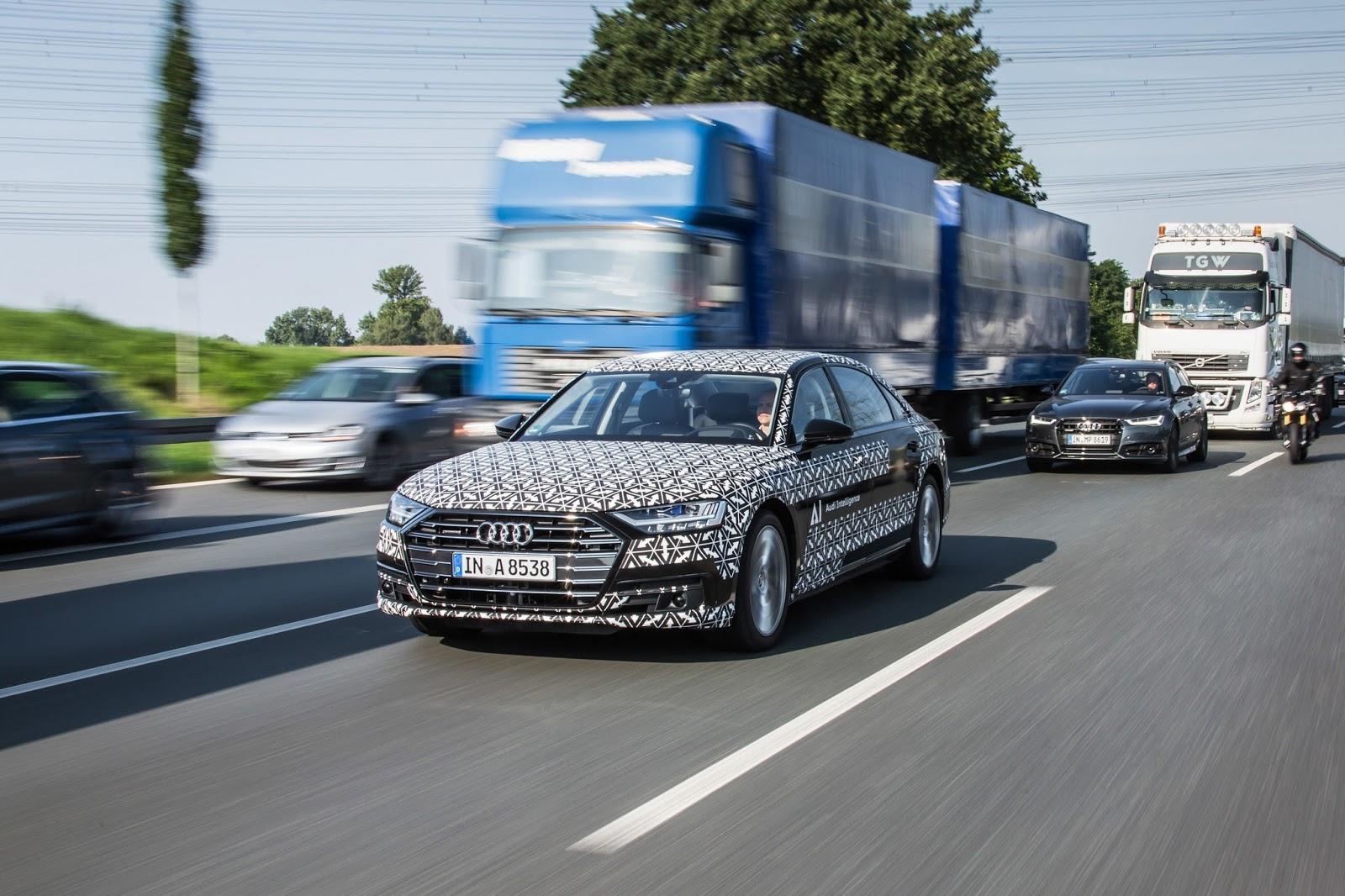 Audi A8 drive on Tech Day