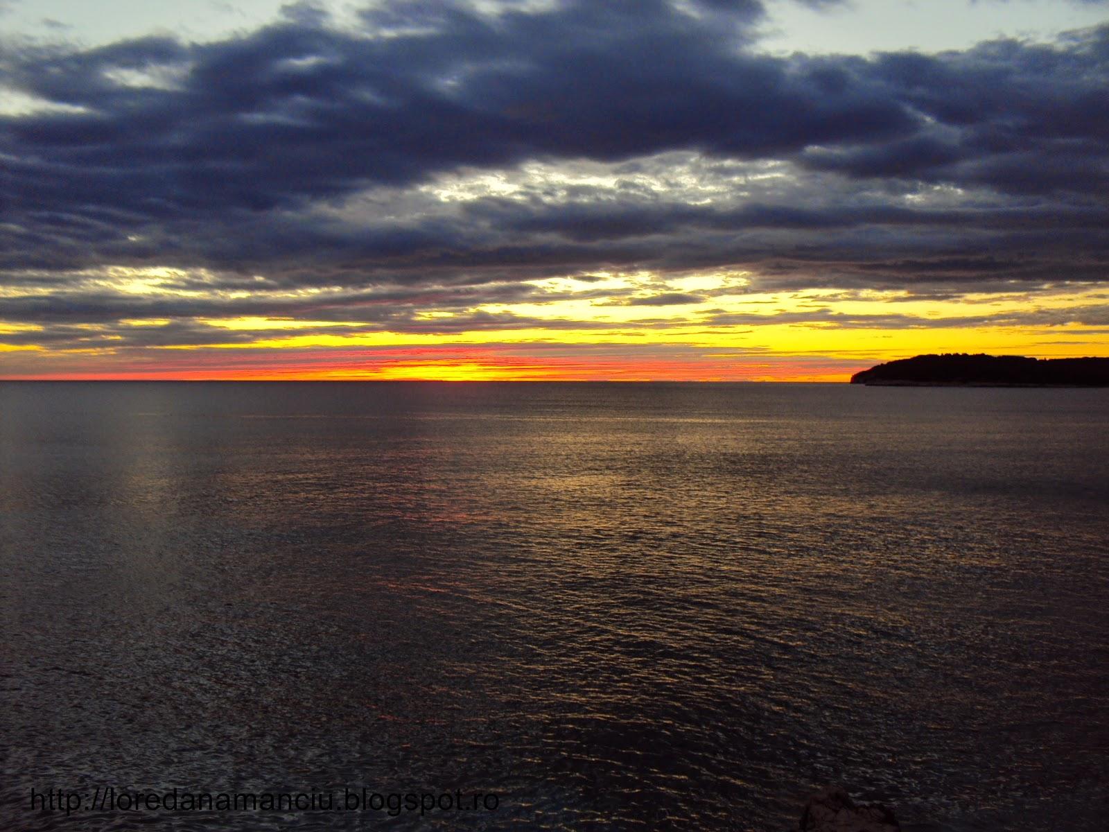 amazing sunset in Croatia, Pola