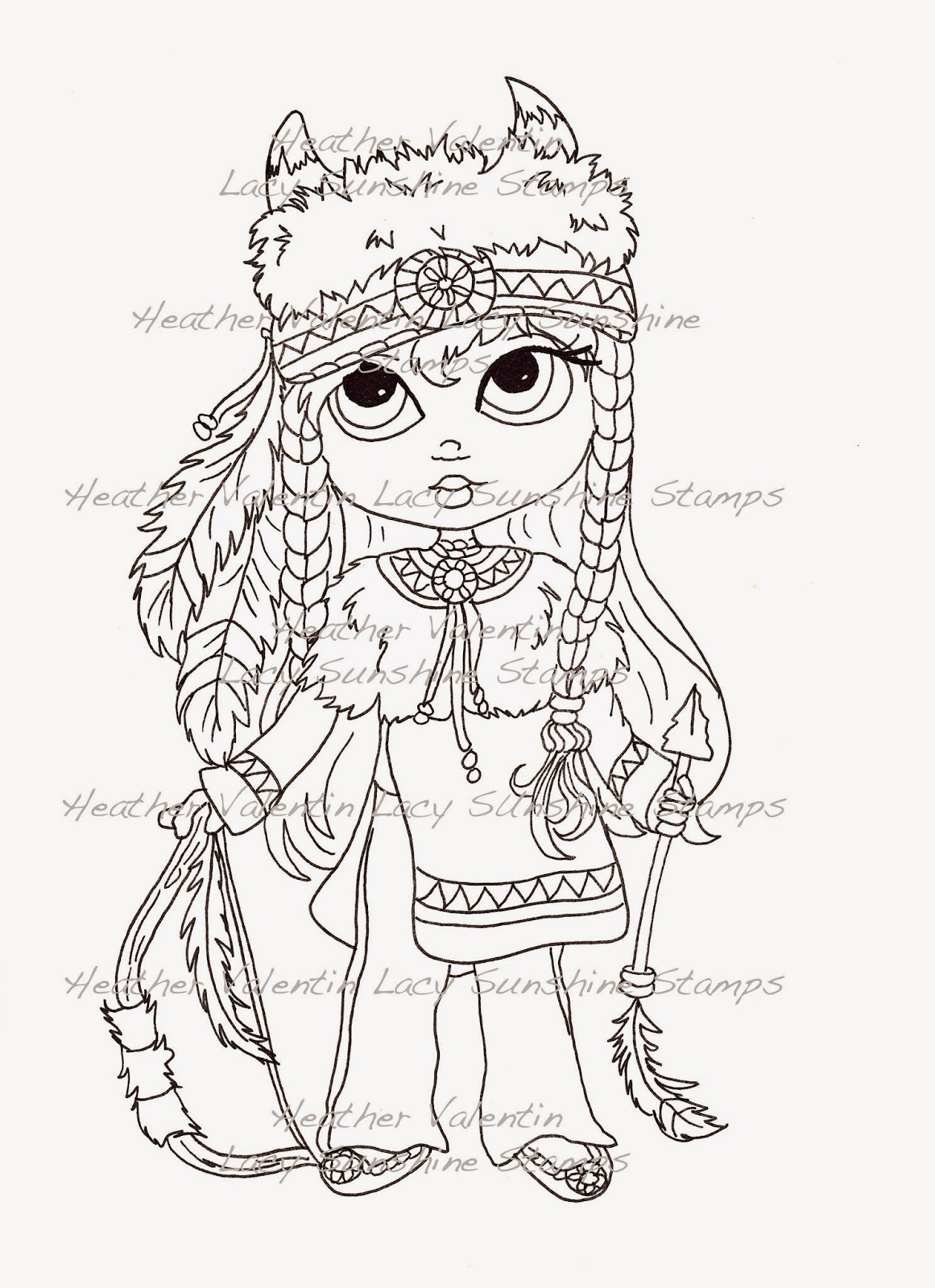 Puppet Indian Maiden Sketch Coloring Page