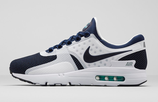 detailed look e3717 6c8e4 Nike Air Max Zero QS. White, Midnight Navy, Reflective Blue, Hyper Jade.  789695-104. What is zero  Mathematically, it s nothing  a number created to  ...