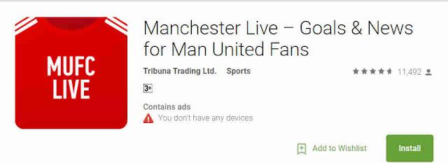 Aplikasi Manchester United yang Perlu Disimpan di HP