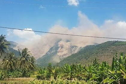 Gempa lombok, melongsorkan lereng Gunung Rinjani