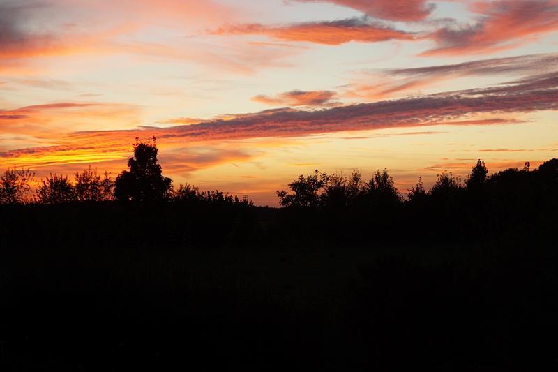 Abendhimmel im Herbst