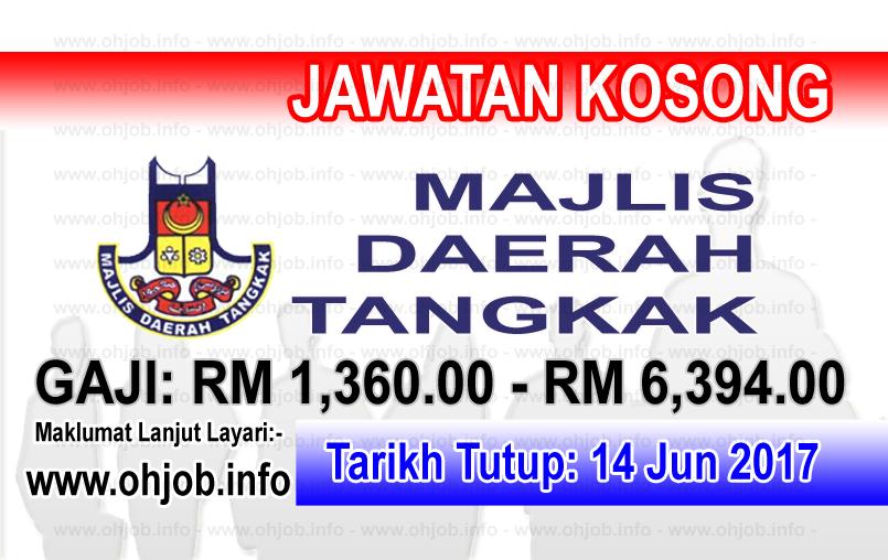 Jawatan Kerja Kosong Majlis Daerah Tangkak logo www.ohjob.info jun 2017