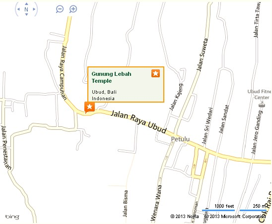 Gunung Lebah Temple Ubud Location Map,Location Map of Gunung Lebah Temple Ubud,Temple of Gunung Lebah Pura Gunung Lebah Accommodation Destinations Attractions Hotels Maps Photos Pictures