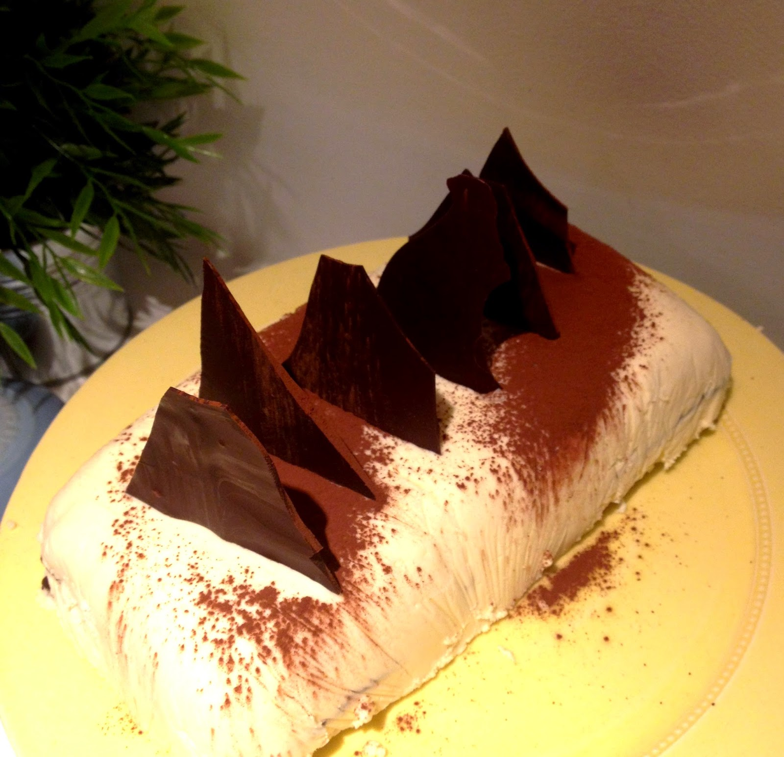 Sal's Kitchen: White Chocolate Ice Cream Cake