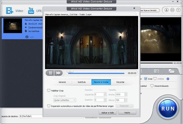 WinX HD Video Converter Deluxe PARA PC