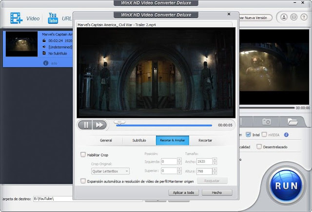 Descargar WinX HD Video Converter Deluxe Mega y Mediafire