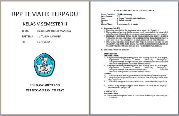 Selengkapnya mengenai susunan dan isi berkas RPP Kelas  RPP Kelas 5 Semester 2 Kurikulum 2013 Revisi dengan Kegiatan Berbasis Proyek