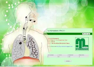Soal Ulangan Harian Alat Pernafasan